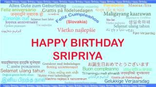 Sripriya   Languages Idiomas - Happy Birthday