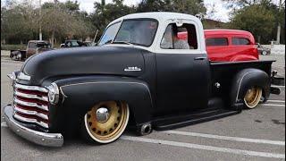 1953 Chevrolet 3100 Two Tone Flat Black 4K - Florida Hotrods & Generation Oldschool
