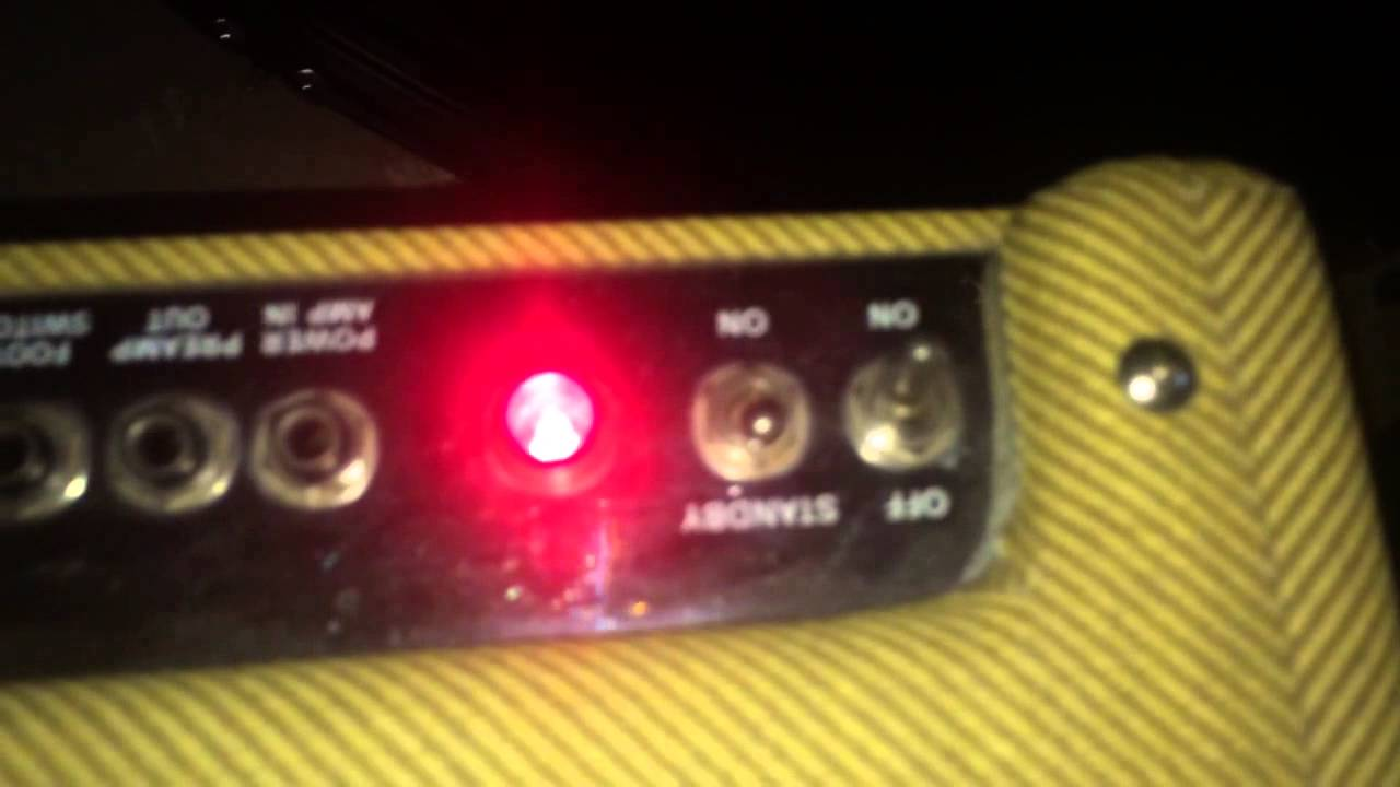 how to use standby switch on tube amp