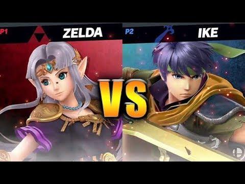 Super Smash Bros. Ultimate - Ike vs Zelda - HD Gameplay