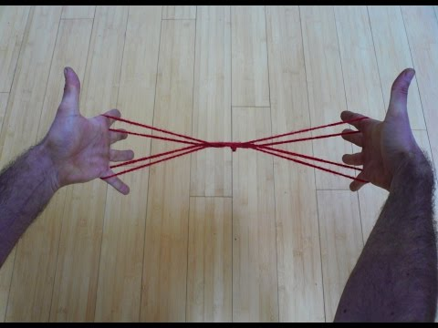 Learn To Make A Cool Cat's Whiskers String Figure/String Trick -Step By Step