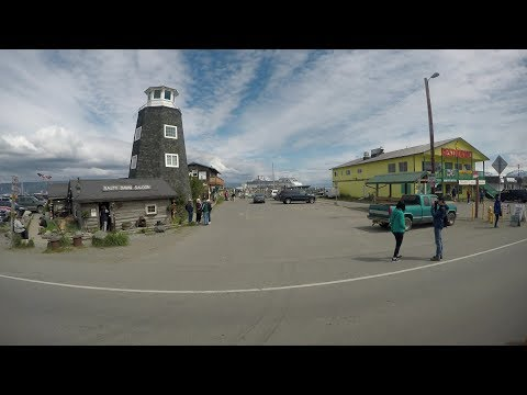 Homer Alaska Tour of Spit, Shopping, Beautiful Beach & Cruise Port (4K)