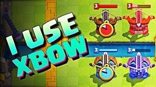 I USE THE XBOW :: Clash Royale :: NEW XBOW IS AMAZING!!