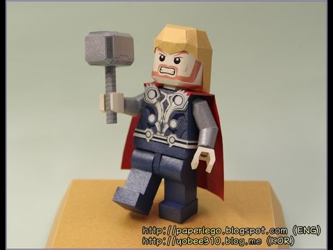 Making Highlight Of Lego Thor Papercraft Paper Toy