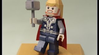 Making Highlight of Lego Thor Papercraft (Paper Toy)