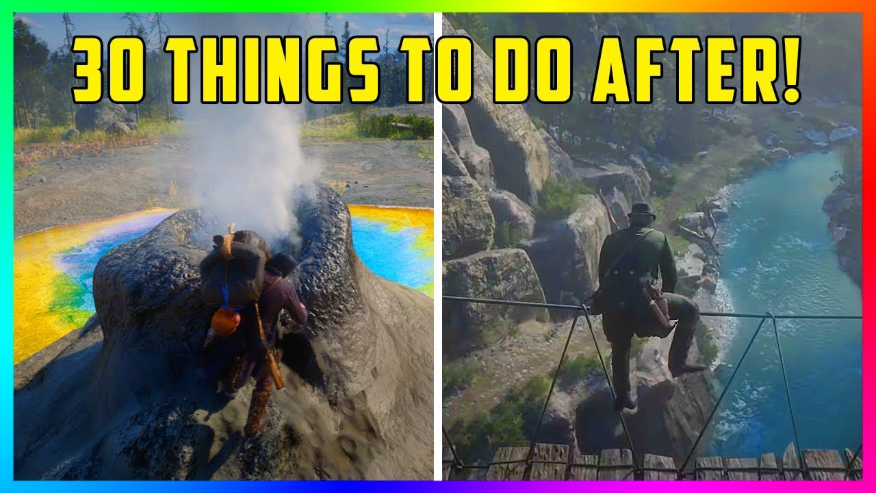 30 Things To Do After You Finish Red Dead Redemption 2!
