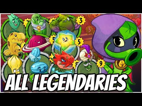 ALL Legendary Cards Challenge - Green Shadow | Plants vs Zombies Heroes Gameplay (2/22)