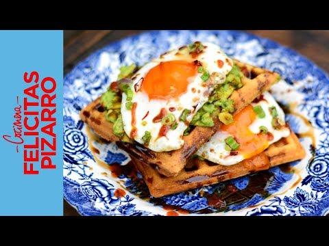Waffles con Palta & Huevos Picantes | Felicitas Pizarro