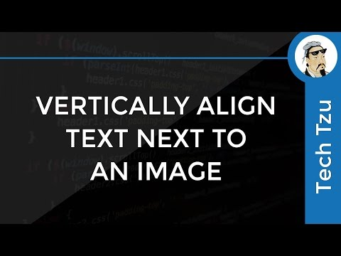 How To Vertically Align Text Next To An Image