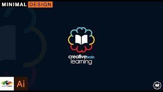 How to design Minimal creative brain learning logo(Education logo)