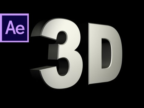 After Effects Tutorial: CS6 New 3D Text Extrusion -HD-
