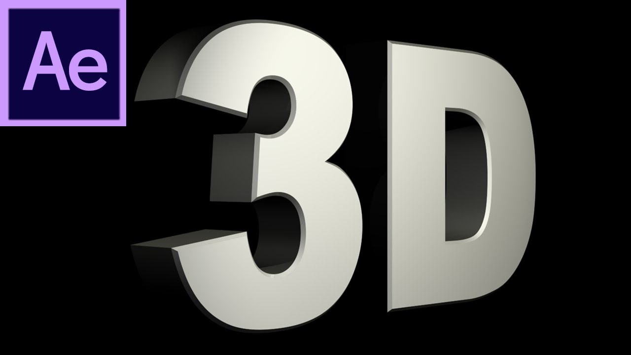 After Effects Tutorial: CS6 New 3D Text Extrusion -HD- - YouTube