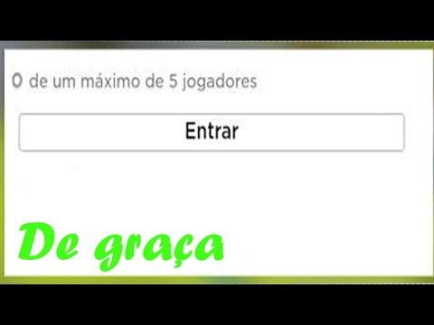 Como Ter Server Vip De Graca No Roblox 2020 Youtube