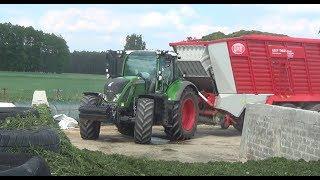 Zbiór traw na podlasiu. Fendt 718 Vario & Lely Tigo 60 RP