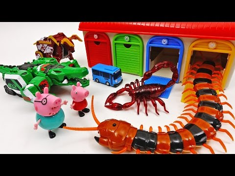 Go Go Geo Meca, Tayo the Little Bus Garage Station is Under Attack by Monster Bugs ~!