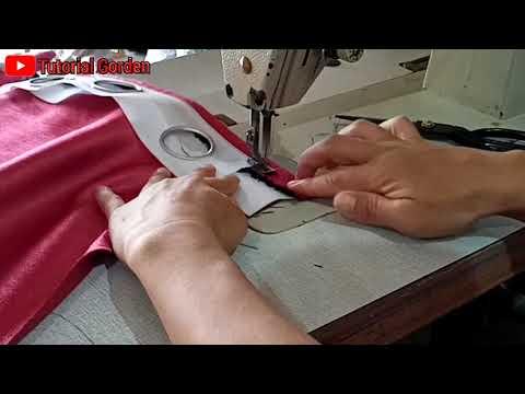 DIY | top curtains eyelet