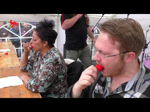 Chilli Eating Contest | Reading Chili Festival 2016 - YouTube