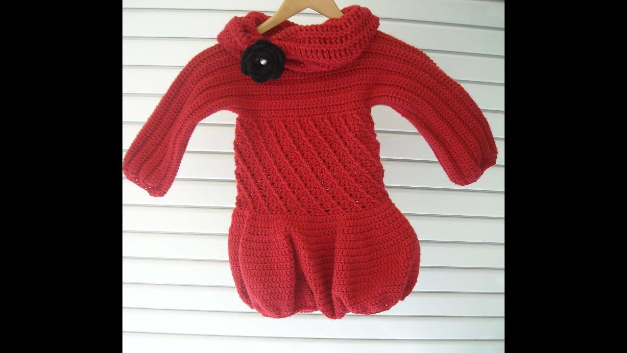 bcb23fd77157 Πλεκτο Φορεμα (μερος 2ο) / Crochet Dress (part 2) - YouTube