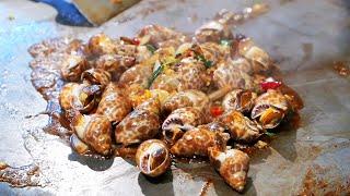 Taiwan Street Food - Sea Snails Seafood  海蝸牛 / 海のカタツムリ / 바다 달팽이