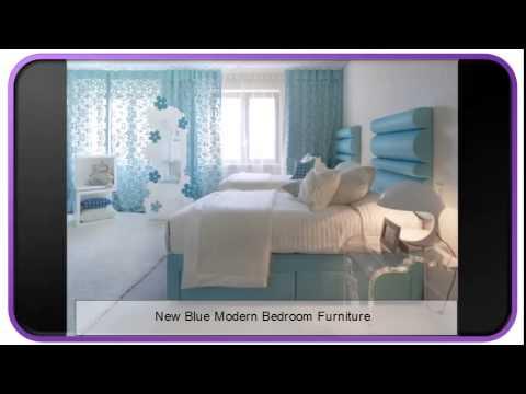 New Blue Modern Bedroom Furniture