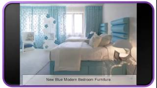 New Blue Modern Bedroom Furniture