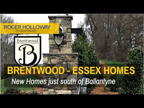 Brentwood New Homes Subdivision near Ballantyne - Indian Land SC 29707
