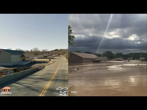 Extreme Weather Causes Flooding In Central United States! Texas Arkansas Missouri