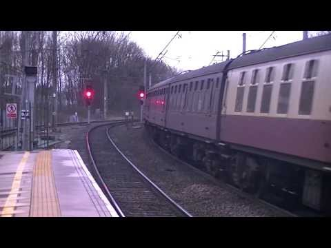 Afternoon of Rail Action at Lancaster Castle Station. 08/01/14