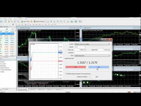 LiteForex video tutorial: Opening orders (MT4)