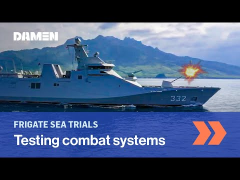 Testing guided missile system on frigate | Indonesian Navy | Damen Shipyards