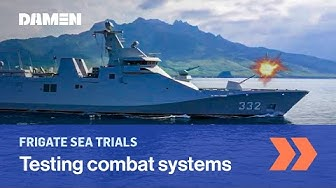 Damen completes Combat systems installation and trials on second Indonesian guided missile frigate
