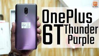 OnePlus 6T Thunder Purple: Unboxing | Price [Hindi हिन्दी]