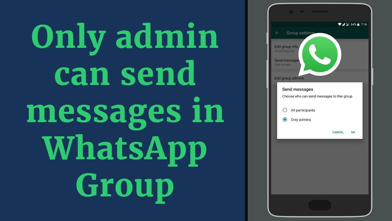 Only Admin Can Send Messages in WhatsApp Group WhatsApp New Feature