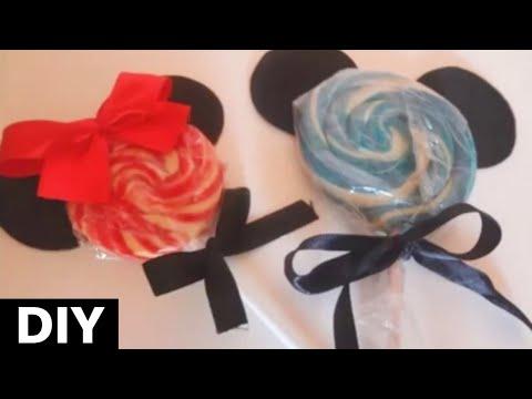DIY : Pirulitos personalizados do Mickey e da Minnie.