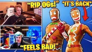 STREAMERS REACT TO 'RARE' GINGER GUNNER - MERRY MARAUDER SKINS OUT! (Fortnite Stream Faits saillants)