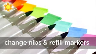 When and how to change Copic nibs, refill markers