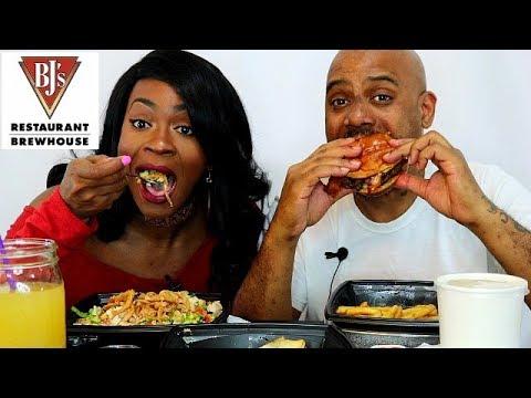 BJ'S RESTAURANT & BREWHOUSE MUKBANG EATING SHOW! YUMMERS!