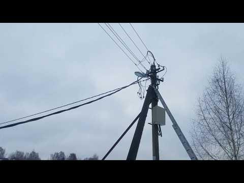 Установка кабеля