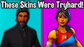 10 SKINS THAT USED TO BE TRYHARD in FORTNITE! (do you remember these cosmetics?)
