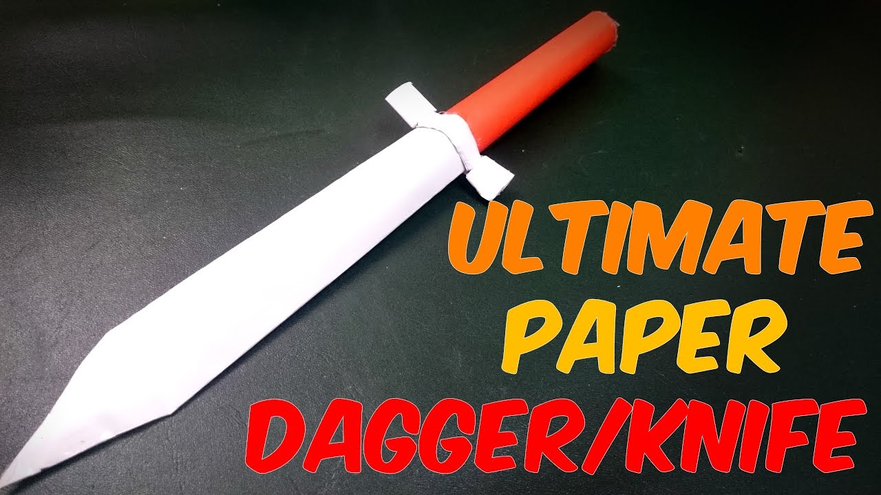 how to make a paper knifedagger easy craft youtube