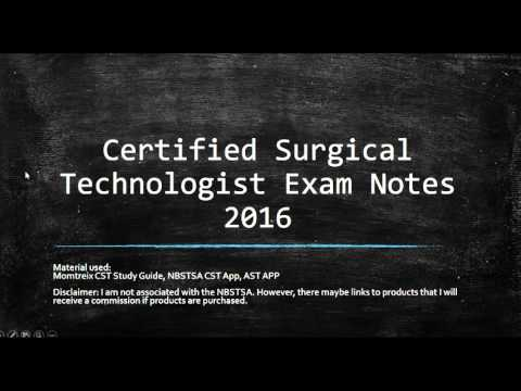 Surgical Tech Certification Exam Study Session # 1