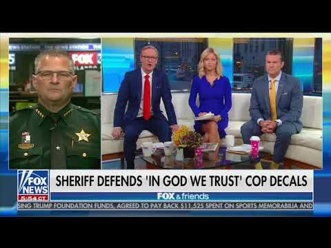 Good Morning Orlando - Brevard Sheriff Defends In God We Trust Car Decals!