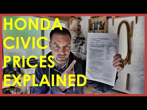 2017 HONDA CIVIC PRICES EXPLAINED (including DISCOUNT)