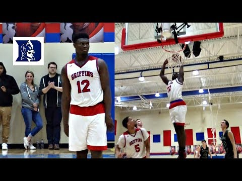 Zion Williamson Picks DUKE!! CRAZY Senior Year Mixtape From The 1st 4 Games