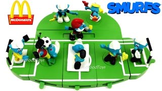 McDONALD'S SMURFS HAPPY MEAL TOYS 2017 VS 2006 WORLD CUP SOCCER FOOTBALL COMPLETE SET 8 COLLECTION