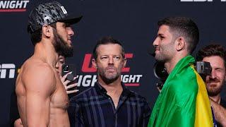 UFC Vegas 31: Weigh-in Faceoffs
