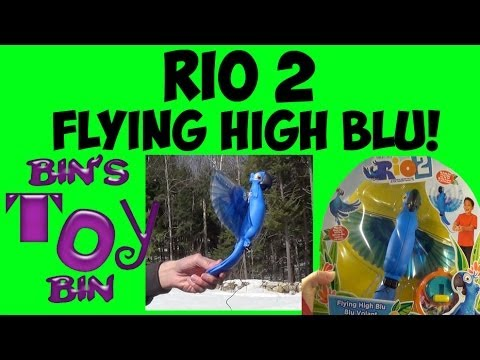 Flying High Blu from RIO 2 Movie! How Well Does He Fly?? Review by Bin's Toy Bin