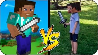 MINECRAFT IN REAL LIFE 12 | MINECRAFT ANIMATION vs REAL LIFE