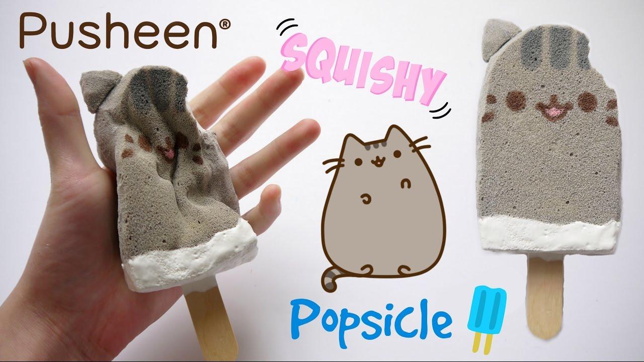DIY Pusheen Popsicle Squishy! Homemade Squishy Tutorial - YouTube