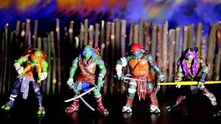 ЧЕРЕПАШКИ НИНДЗЯ - КЛИП !!!  Turtles Movie line toys трейлер игрушки обзор вилео для детей